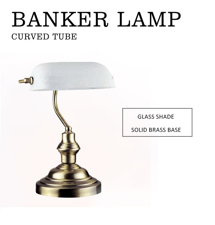 Gs Ce Certificate Low Price  Glass bankers lamp green