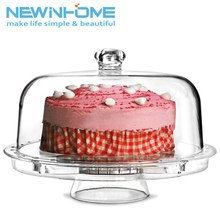 Display Cake Dome Cover Custom Lighted Acrylic Cake Tray Stand