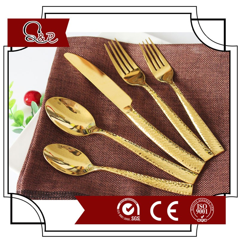 Brand Names flatware wholesale Rose gold plated cutlery