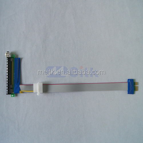 2015 New product PCI Express PCI-e X1 TO X16 Extension Cable with Molex Connector