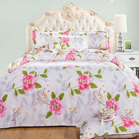 Digital printing bed sheet , dye sublimation bed sheet , custom made bed sheet
