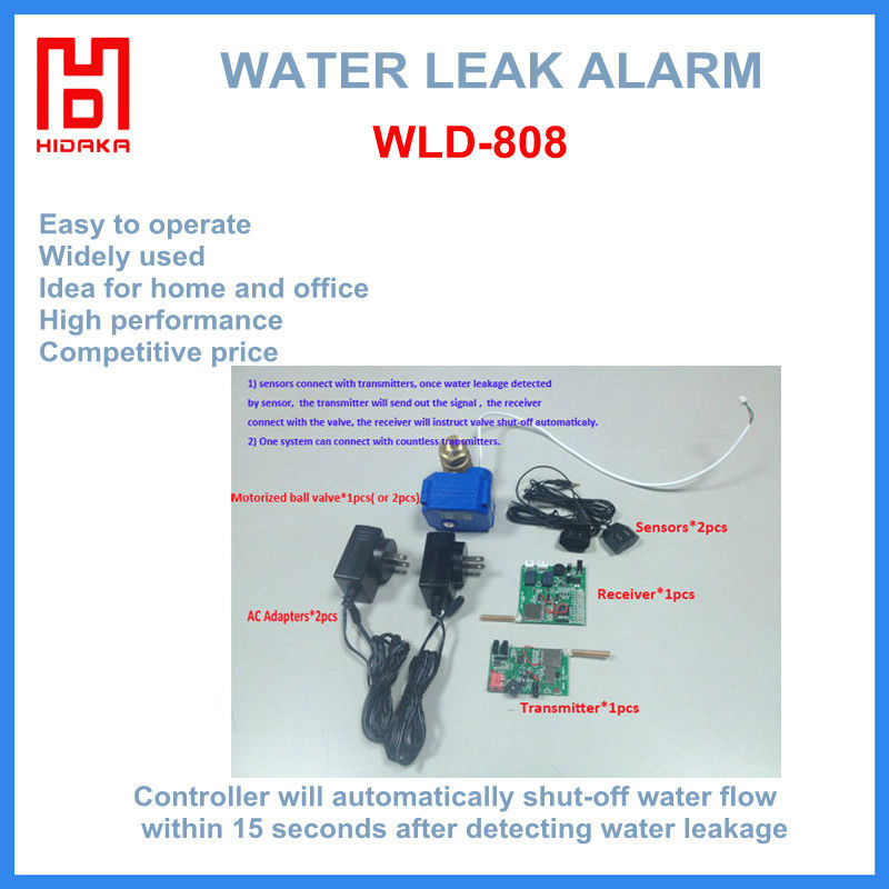 wireless water level leak detector shut off for water pipe ground water detector