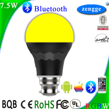 Smart Lighting Led Light Toys 7.5w RGBW Bluetooth Led Bulb Smart Home Control System IOS/Android APP