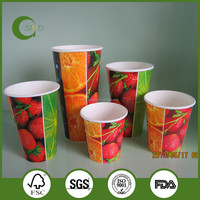 16OZ Disposable Cold Drink Paper Cups, ice cream paper cups, double PE paper cups