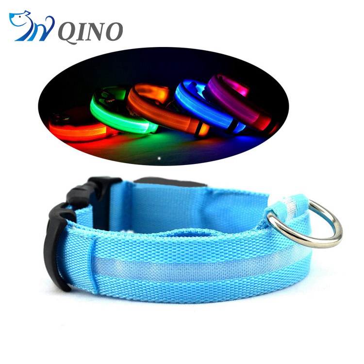 QN-A-4256 wholesale pet product dog collar led usb rechargeable flashing dog collar