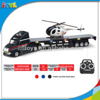 A575152 rc truck toy with helicopter music & light remote control truck