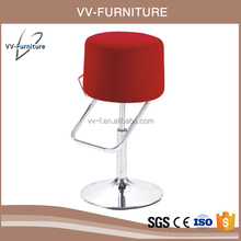 wholesale modern lifting rotation fabric top kitchen stools bar chairs