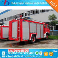4x2 Dongfeng 2000L water tanker fire fighting trucks for sale