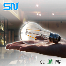 High brightness 2w 4w 6w e27 led filament bulb 8w ul with 2 years Warranty