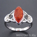 Wholesale Resin Amber Crafts Silver Rings Jewelry Women DR032726R