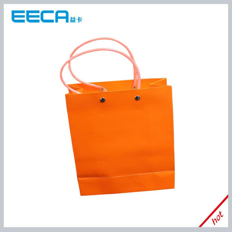 2016 Luxury orange food paper bag wholesale in Dongguan China