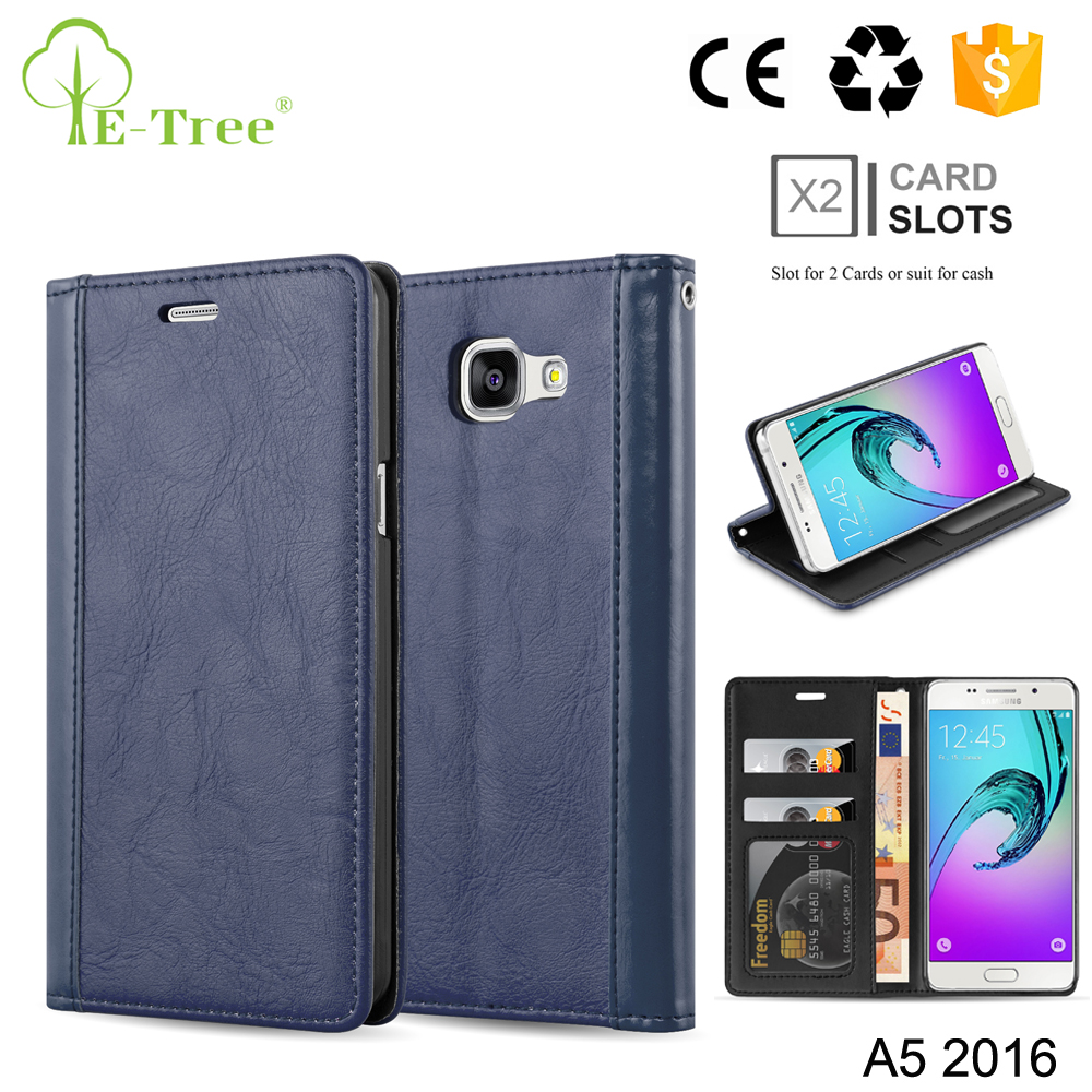 Luxury Leather Credit Card Holder Wallet Phone Case For Samsung A5 2016