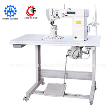 LM-323 single needle sewing machine with wheel and needle feed sewing machine