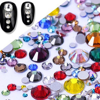 Glitter Rhinestones Crystal SS3 - SS34 Non Hot Fix Rhinestones Flatback Strass For Glue on Garment Nail Art Stone