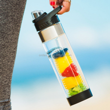 Dashine infuser plastic shaker water bottle for fruit shaker water drinking