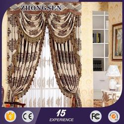2015 new designs modern windows 100% polyester indian window curtain