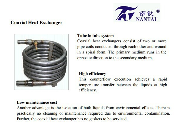 High Efficiency Salt Water Condenser Evaporator Heat