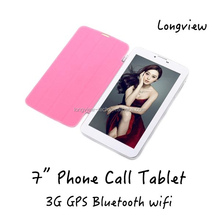 "7"" Cheapest Android Tablet 3g Wifi Bluetooth GPS FM Dual-Core Tablet PC 7inch With new folding case cover"