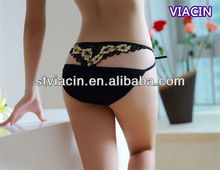 new fashion back double g-string lady nude lingerie sexy panties