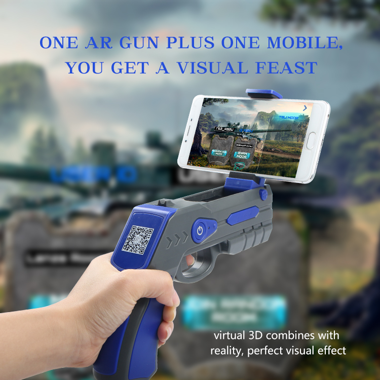 Toy Guns Bluetooth Game Pad VR/AR Gun with smartphone holder control