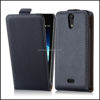 Durable Genuine Real Flip Leather Case Wallet Cover for Sony Xperia V