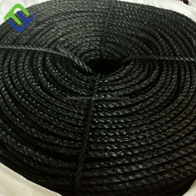 3-strand twist black color PP tugboat rope