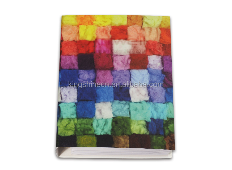 Shenzhen factory custom cashmere detachable color card with binder cashmere swatch sample card