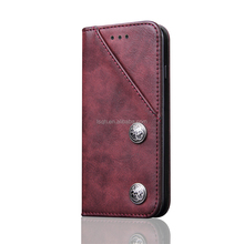 High Quality Leather Holster Card Wallet Flip Case Cover For iphone