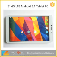 Hot selling 8 inch 1280*800 IPS Screen WIFI 3G GPS 4G LTE Android 5.1 lollipop Tablet PC