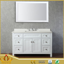 High White Lacquered PVC Washroom bathroom Vanity ikea furniture