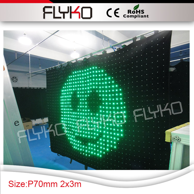 fashion tops led music color change light led curtain P7 wall cloth for club party decorations