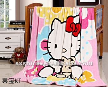 hello kity baby coral fleece blanket