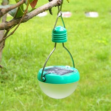 2016 hot sale Waterproof LED Solar 7 Led Bulds 3W 2V/100mA Portable Solar Powered Camping Lantern Lamp outdoor new arrive