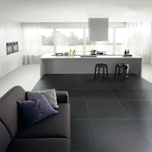 Latest Black color Lappato finish non slip living room porcelain floor tiles sizes 24x24 in philippines price 66CL04P