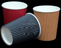 4oz 2016 High Quality Hot Sale Custom Printed Ripple Wall Paper Coffee Cups with Lid
