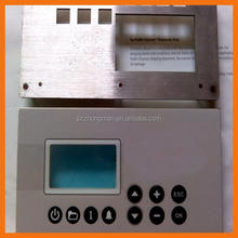 PET graphic overlay membrane switch with transparent window