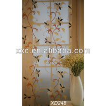Cheap wholesales living room Burnout flower fancy window curtain