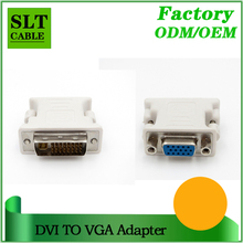 SLT Hot Sell DVI 24+5 Male To VGA 15Pin Female Adapter