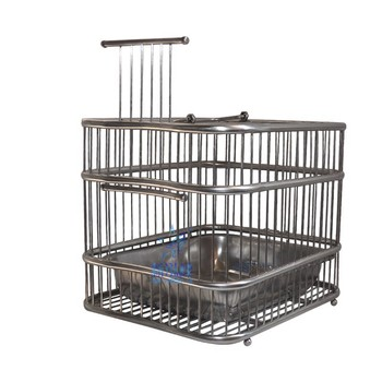 Stainless steel birds' bathing cage bathroom cage