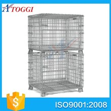 stackable galvanized steel pallet roll cage