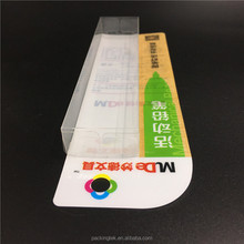 Custom clear plastic retail packaging box with hang hole