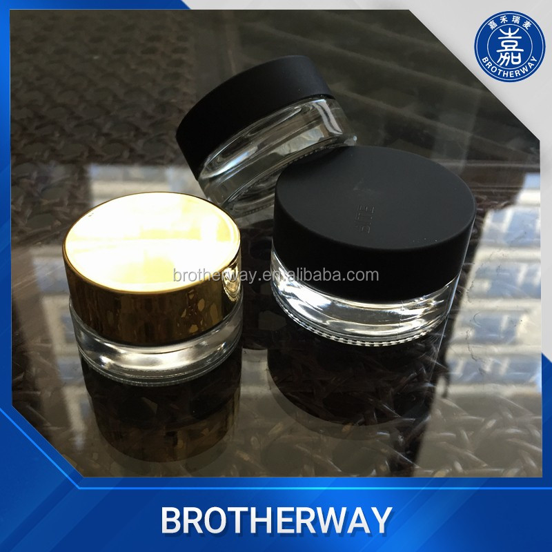 5ml 7ml 10ml shoulder-less glass eye-cream jar mini glass cream jar