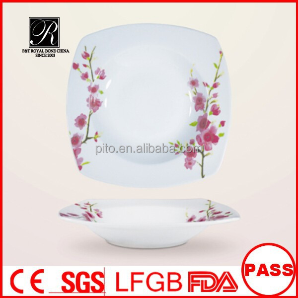 Factory directly supply 16 pcs square porcelain tableware special offer