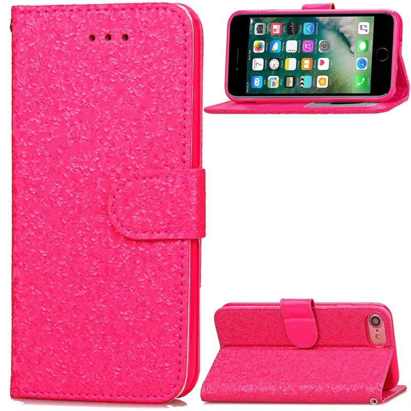 2017 new product mobile phone accessories case brilliant bling classics PU leather strap case with inside TPU for iphone 7 8