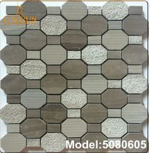 MP-DA01-B Wholesale Silver Leaf Glass Mosaic Toilet Wall Tiles Design Office Decoration Mosaic Tile Price