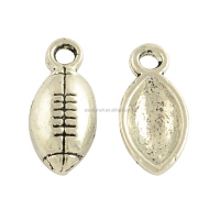 Sport Metal Charms Zinc Alloy Football Pendants Wholesale