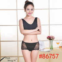 Embroidery as image transparent women panties wearing underwear sexy lady underwear