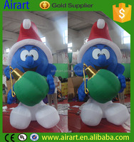 cute inflatable giant smurfs for christmas outdoor decorations
