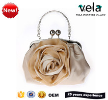 Party Accessories Satin Flower Clutches Handbags For Woman Weddings Party