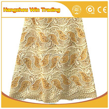 Latest Elegant African Quality Guipure Lace Fabric for Dress Wedding